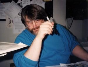 KC Carlson and his editing pen.