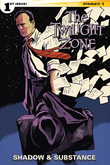 The Twilight Zone: Shadow and Substance cover by Francesco Francavilla
