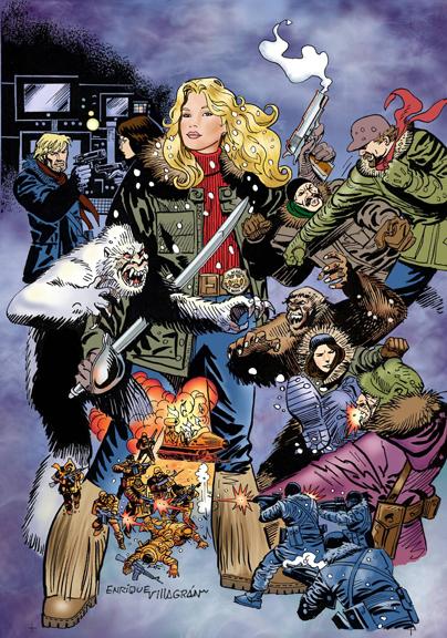"Wynonna Earp: The Yeti Wars Graphic Novel. Art by Enrique Villagran"""