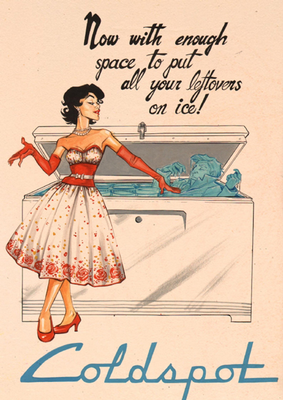 A vintage ad parody by Joëlle Jones done prior to Lady Killer.