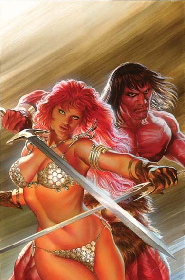 Red Sonja/Conan art by Alex Ross