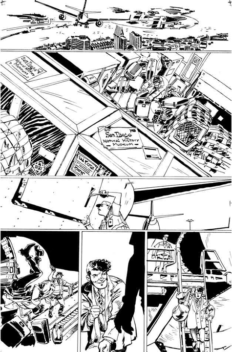 Dirk Gently's Holistic Detective Agency #1 preview page 1. Art by Tony Akins.