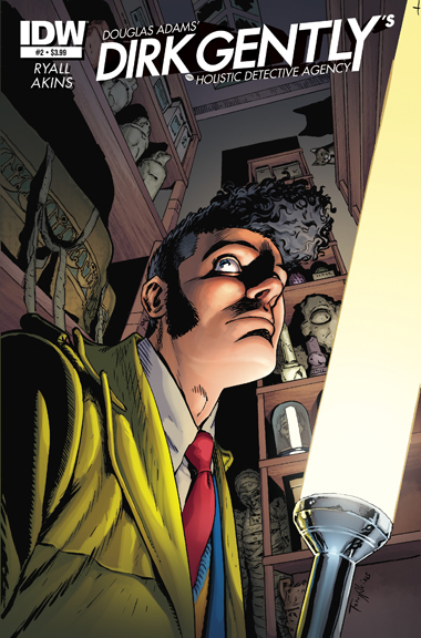 Dirk Gently's Holistic Detective Agency #2 cover by Tony Akins