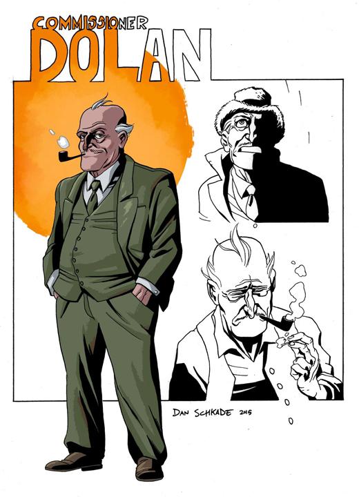 Commissioner Dolan character design