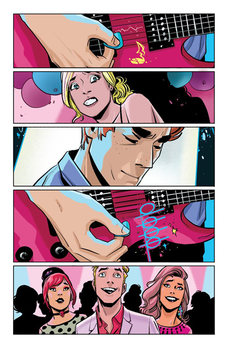 Don't touch my guitar! Archie rocks your world: From Archie #1. Art by Fiona Staples.