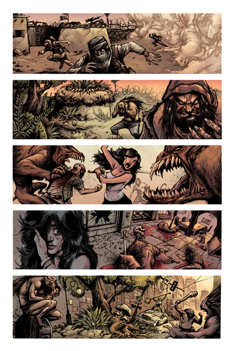 Devolution #1 preview page 3. Art by Jon Wayshak
