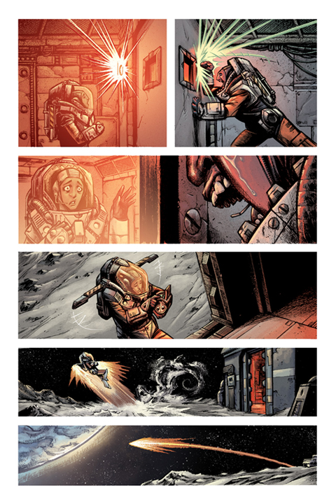 Devolution #1 preview page 5. Art by Jon Wayshak