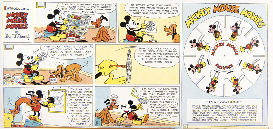 "Color proof of the first ""Mickey Mouse Movies"" feature. June 24, 1934."