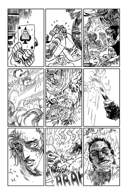 Turncoat #1 preview page 1. Art by Artyom Trakhanov
