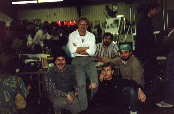 1987-We came in together. Tim Harkins, Ron Frenz, Chuck Dixon, Flint Henry & Beau Smith