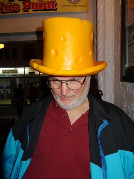KC Carlson in his John Hodgman hat.