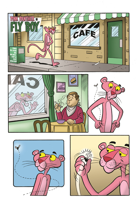 Pink Panther story by Adrian Ropp, art by Bill Galvan & Bob Smith