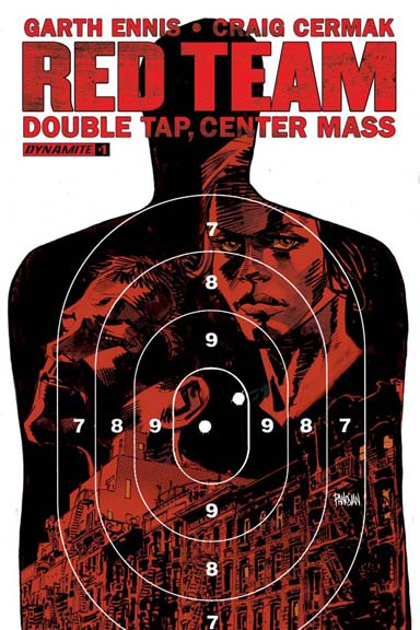 Red Team: Double Tap, Center Mass #1 cover by Dan Panosian