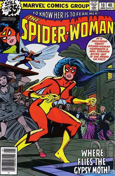 Spider-Woman #10 cover by Carmine Infantino & Bob McLeod.