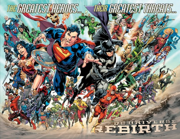 DC Universe Rebirth promotional art