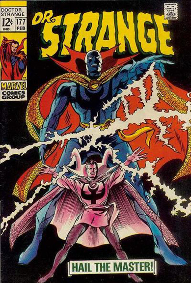 Doctor Strange goes superhero and gains a mask for a short time. Doctor Strange #177 cover by Gene Colan and Tom Palmer