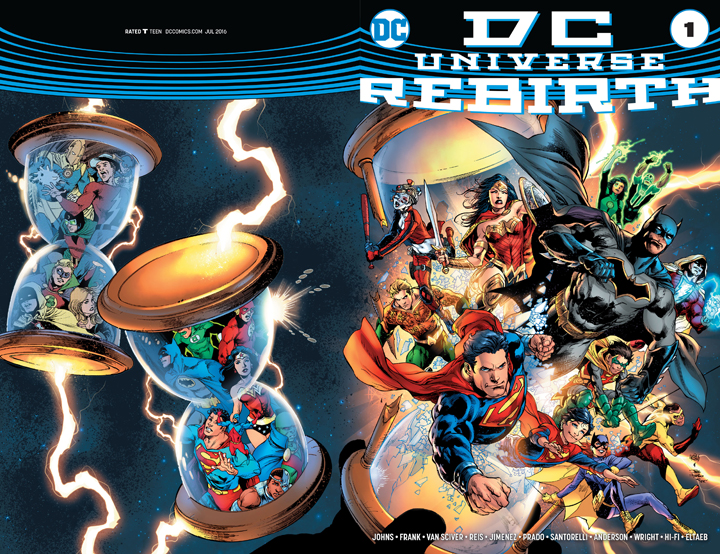 A DC Universe Rebirth Variant Cover