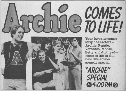 An ad for one of the Archie pilots