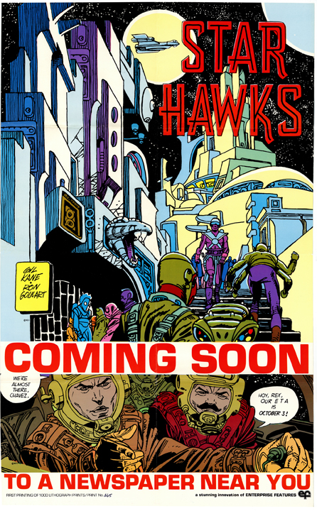 The initial sales poster for Star Hawks