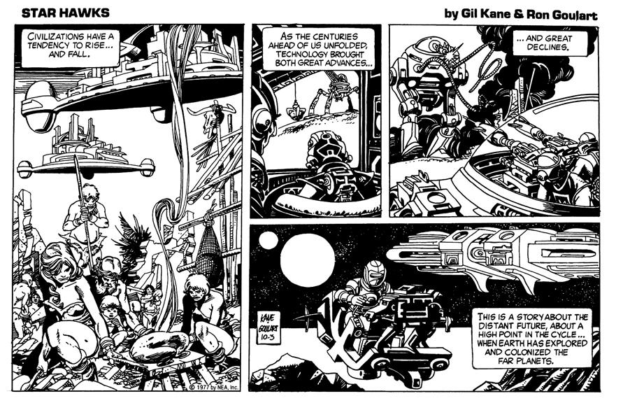 The first Star Hawks strip