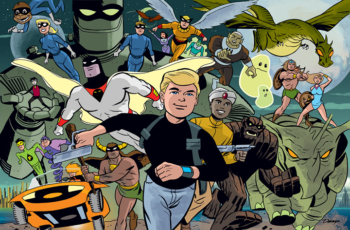Future Quest art by Darwyn Cooke