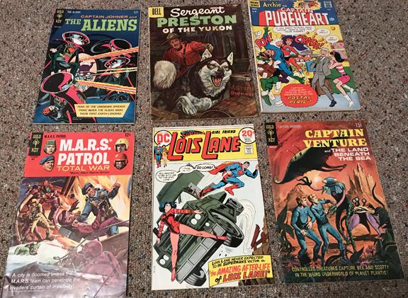 Beau's treasure trove of comics