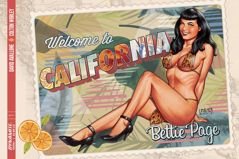 Bettie Page #1 Joseph Michael Linsner cover