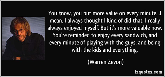 The wisdom of Warren Zevon