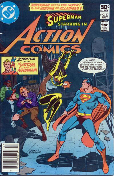 "Action Comics #521, the ""first"" appearance of Vixen"