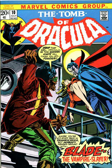 Tomb of Dracula #10, the debut of Blade