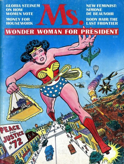 Wonder Woman on the cover of Ms.