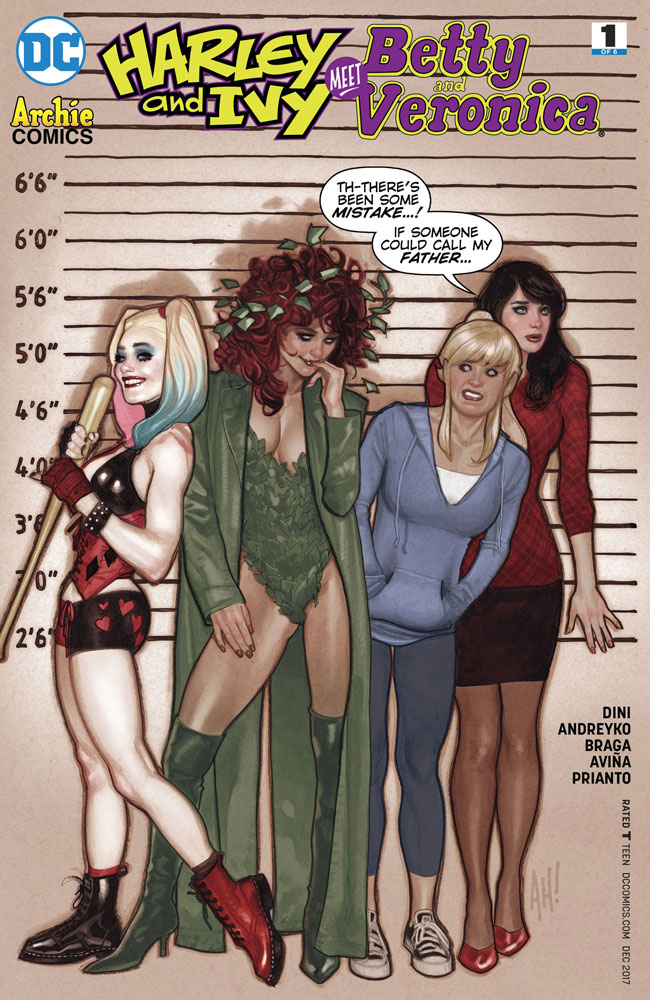 Harley and Ivy Meet Betty and Veronica #1 Adam Hughes cover