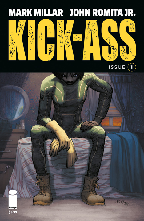 The cover to the first issue of the new Kick-Ass series
