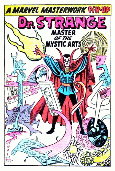 Doctor Strange in all his Steve Ditko glory