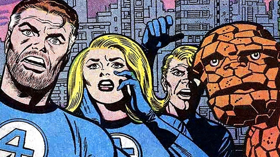 The Ageless Fantastic Four. Art by Jack Kirby.