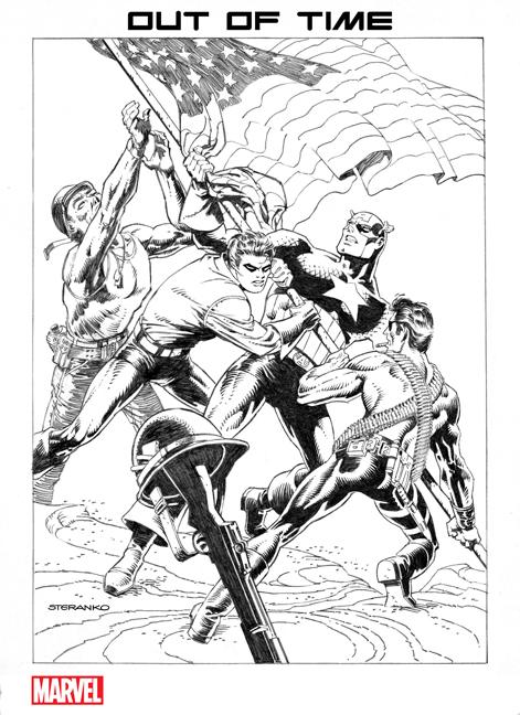 Captain America #700 Jim Steranko Variant cover