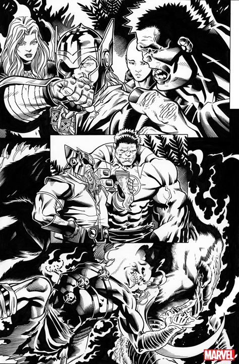 Avengers #1 preview page 1. Art by Ed McGuinness