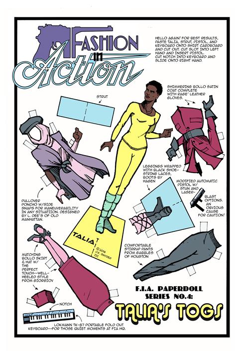The Talia paper doll