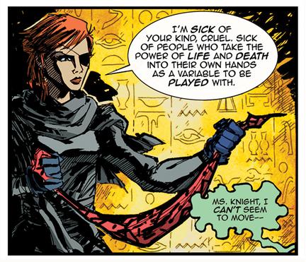 Frances confronts Dr. Cruel.