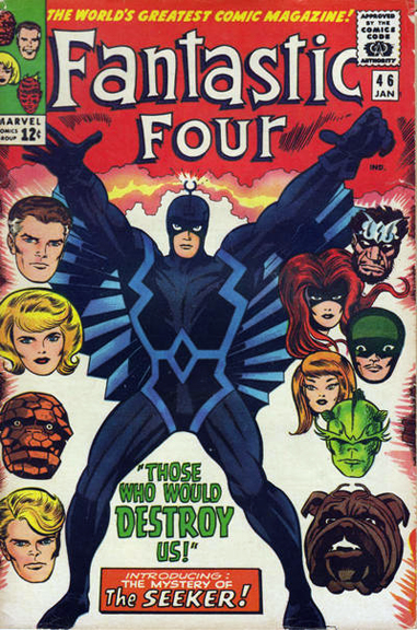 Lockjaw didn't make the cover of #45, but here he is on the cover of Fantastic Four #46