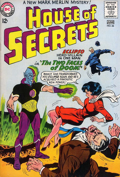 House of Secrets #66 - Eclipso takes over the cover