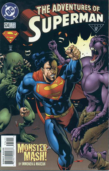 Adventures of Superman #534 which was written by Immonen as well