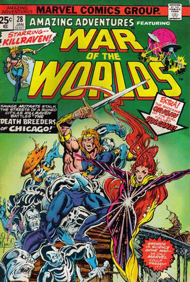 Amazing Adventures #28, Russell's first cover for the series