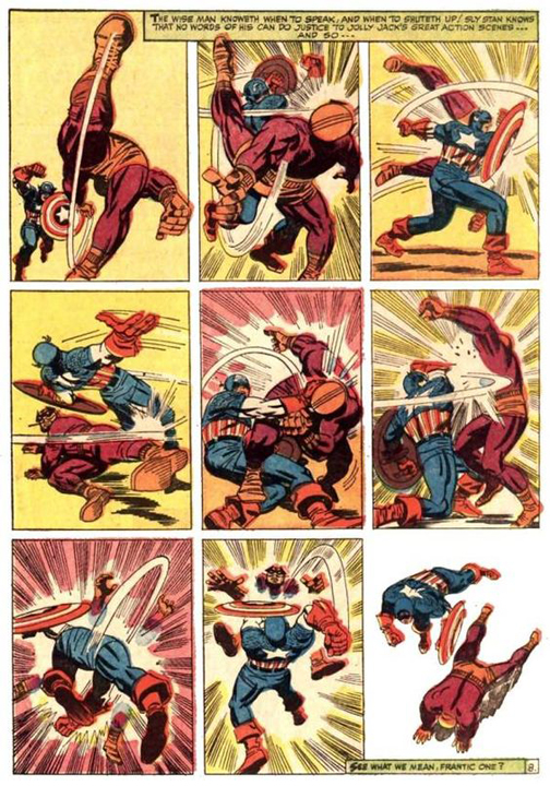 Jack Kirby Art. I made my Captain action and G.I. Joe Do This Over And Over.