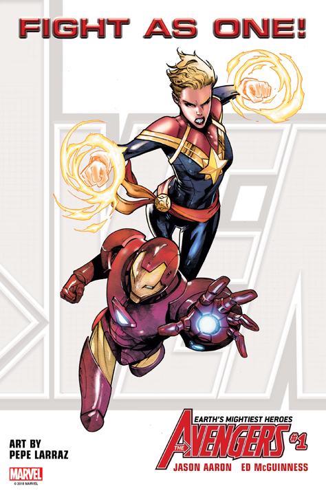 Captain Marvel and Iron Man