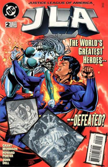 JLA #2. The Justice League faces the White Martians