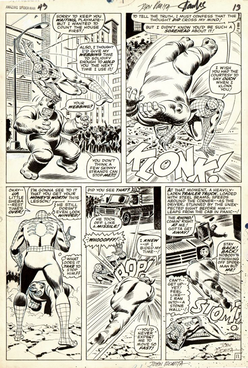 Action and story movement by John Romita, Sr.