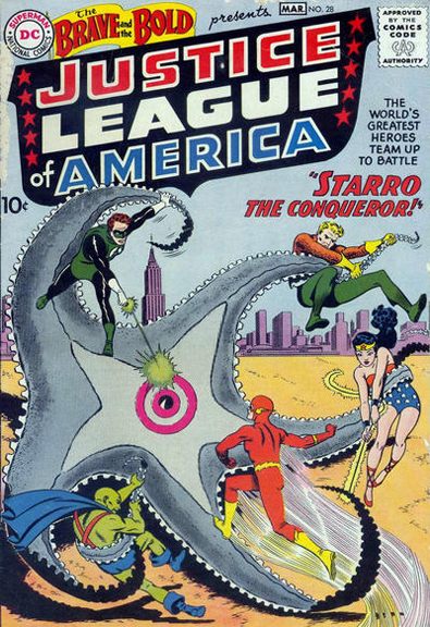 The Brave and The Bold #28, the first appearance of the Justice League.