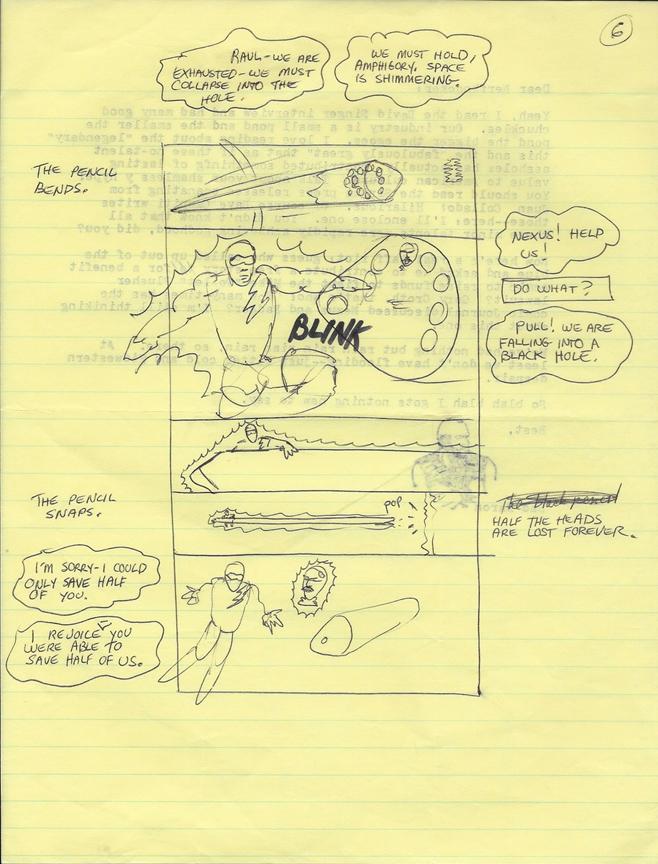A Mike Baron script page