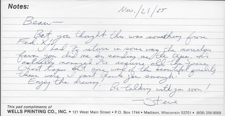 A letter from Steve Rude